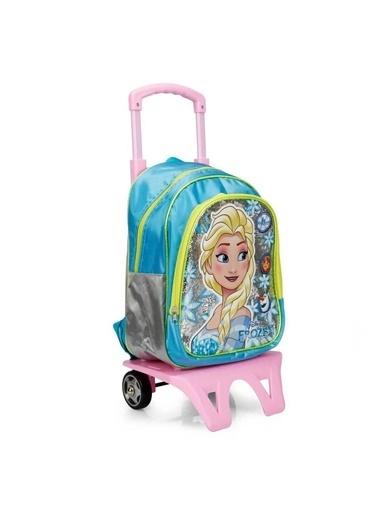 Disney Frozen Disney Çift Bölmeli Baskı Desenli Çek Çek Tamlı Renkli Kız Çocuk Okul Çanta Renkli